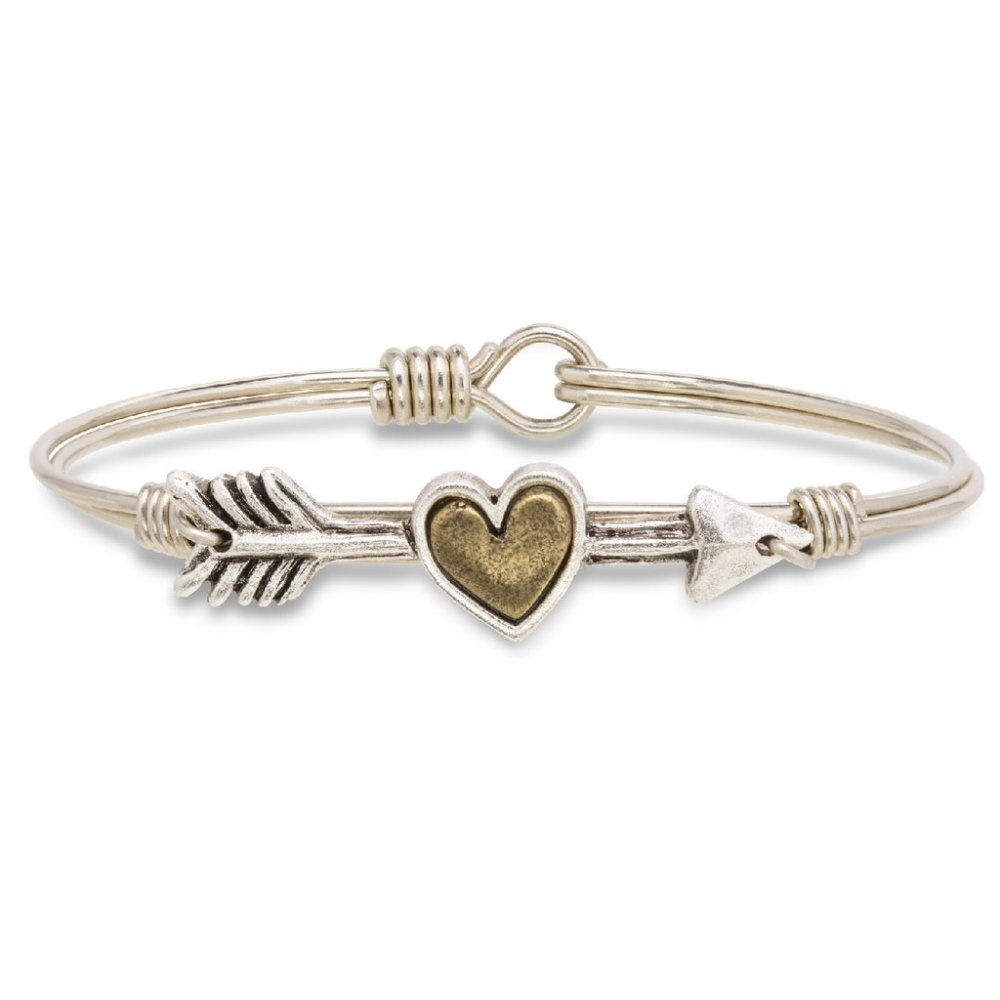 Luca + Danni Bracelet - Follow Your Heart Bangle - Silver
