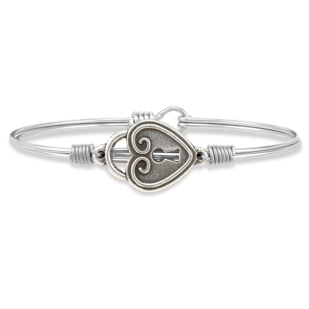 Luca + Danni Bracelet - Key to my Heart Bangle - Silver