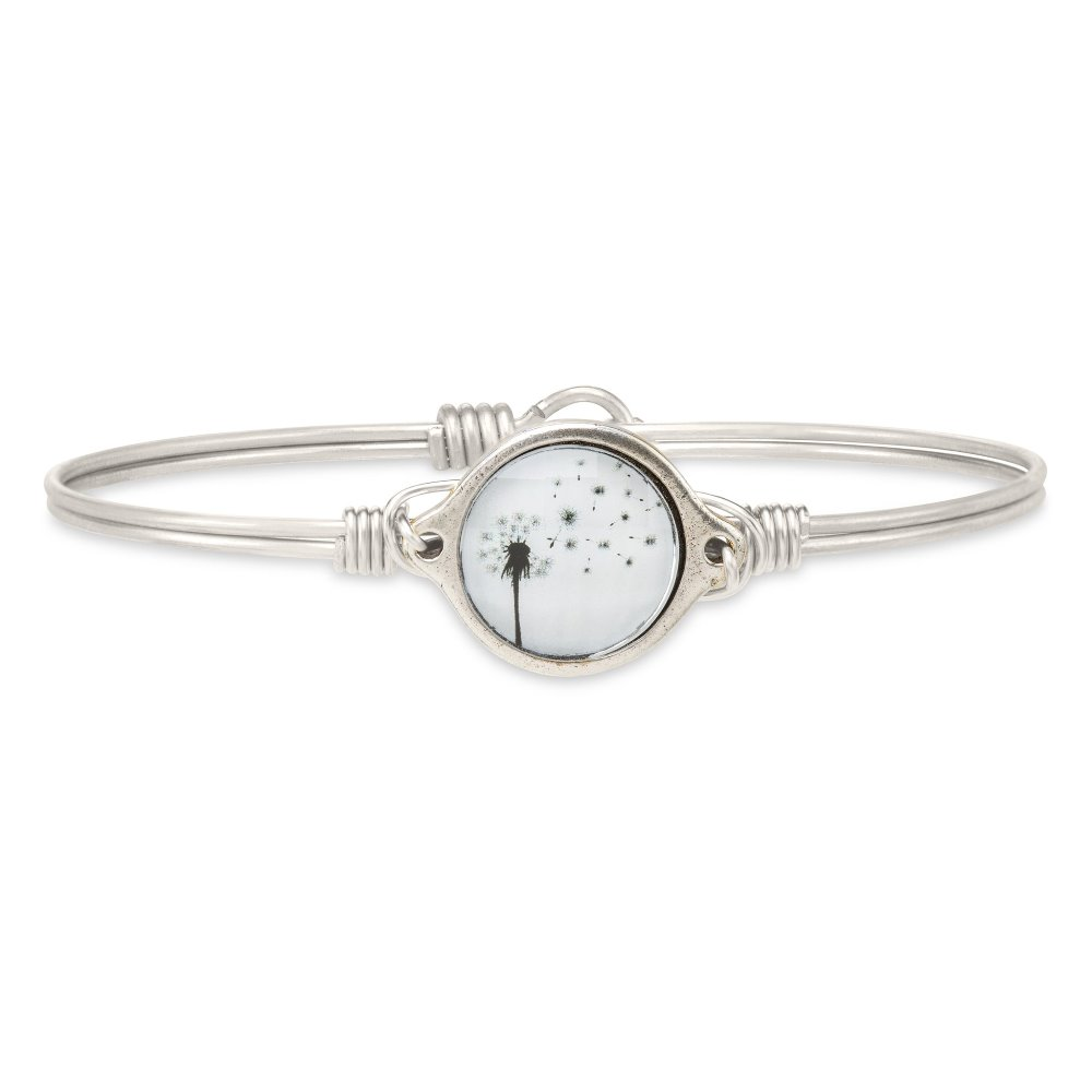 Luca + Danni Bracelet - Make a Wish Dandelion Bangle - Silver