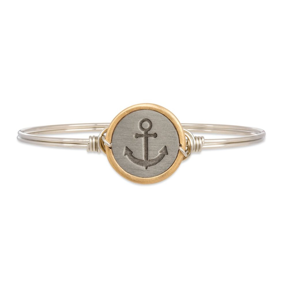 Luca + Danni Bracelet - Stay Anchored Bangle - Silver