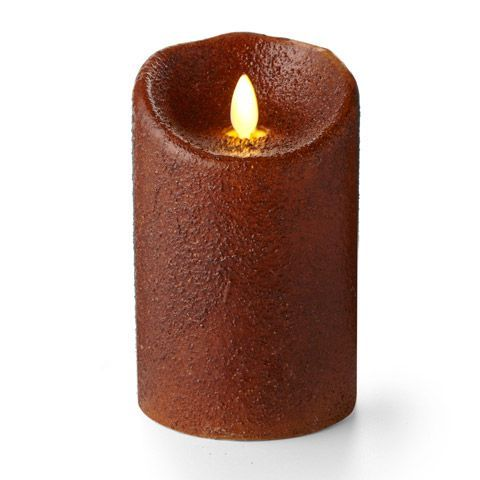 Battery Pillar Candle - Luminara LED - Yam - 5in x 3.5in
