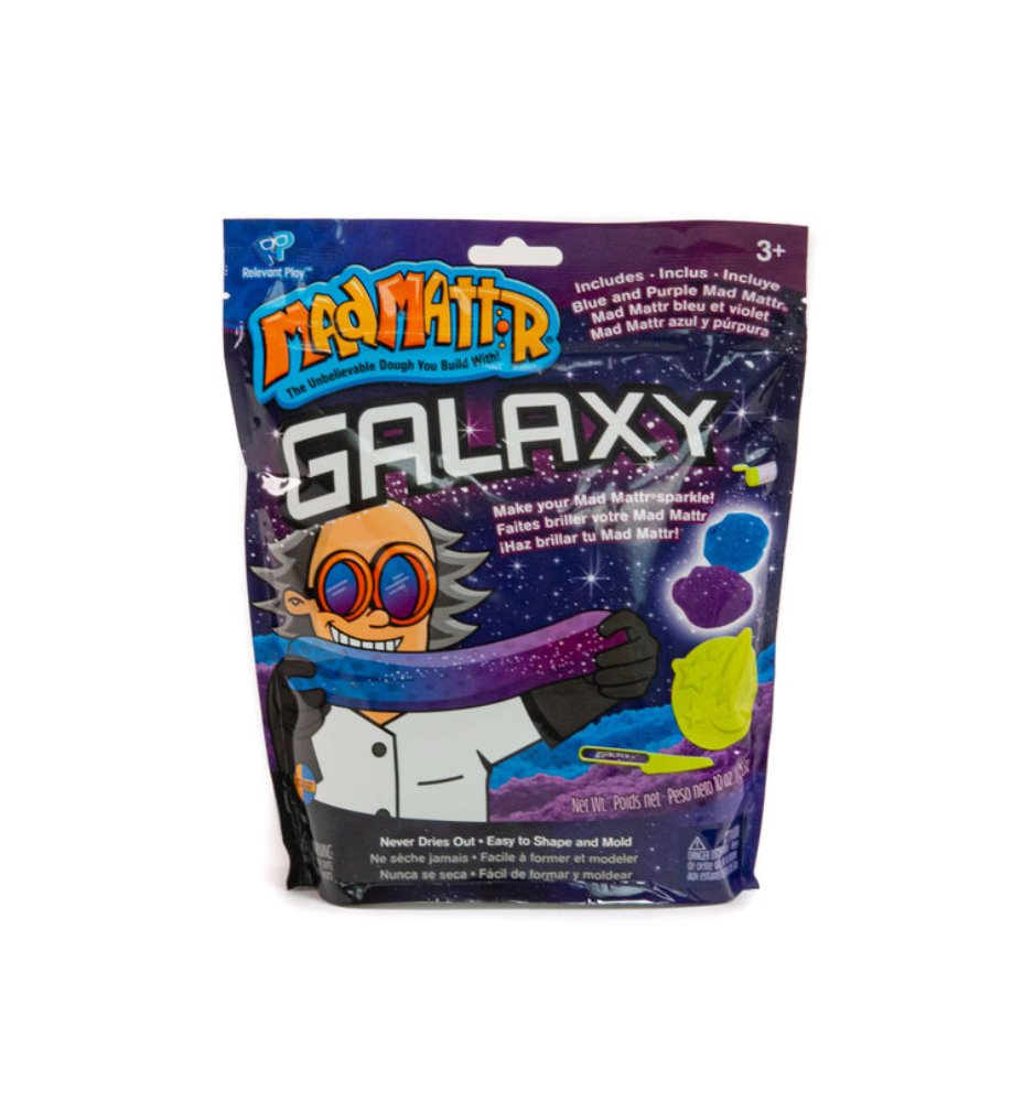 Mad Mattr - Sensory Toy - 10oz Pouch - Galaxy Blue/Purple