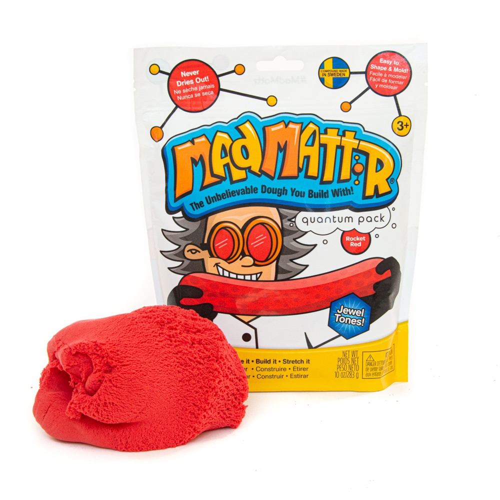 Mad Mattr - Sensory Toy - 10oz Pouch - Rocket Red