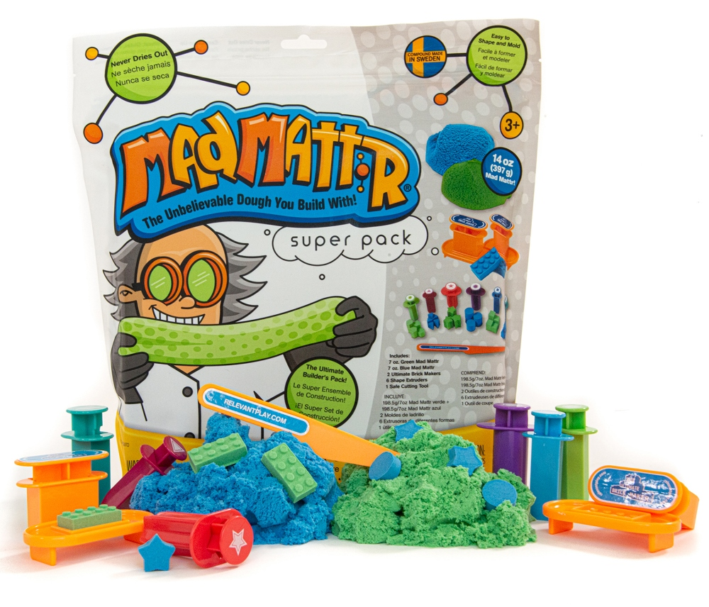 Mad Mattr - Sensory Toy - 14oz Super Pack - 19 Tools