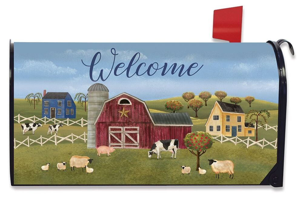Magnetic Mailbox Cover - Spring Countryside Welcome - 6.5in x 19in