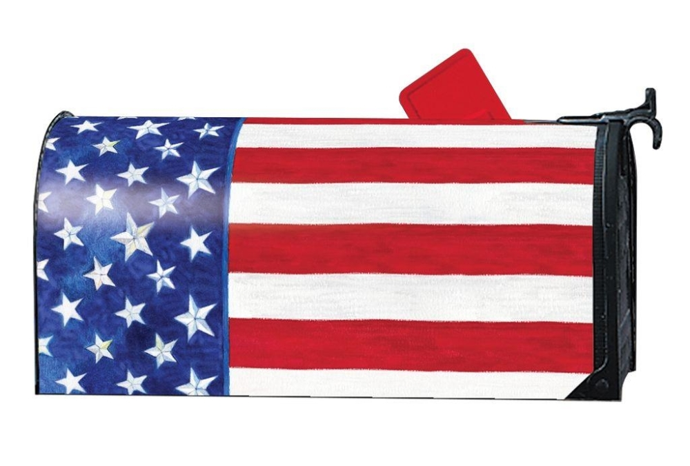 Magnetic Mailbox Cover - Stars and Stripes - 6.5in x 19in