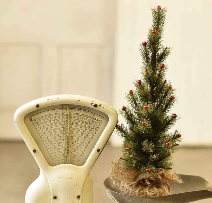 Mer Meri Tree - Table Top Christmas Tree - 18 Inch