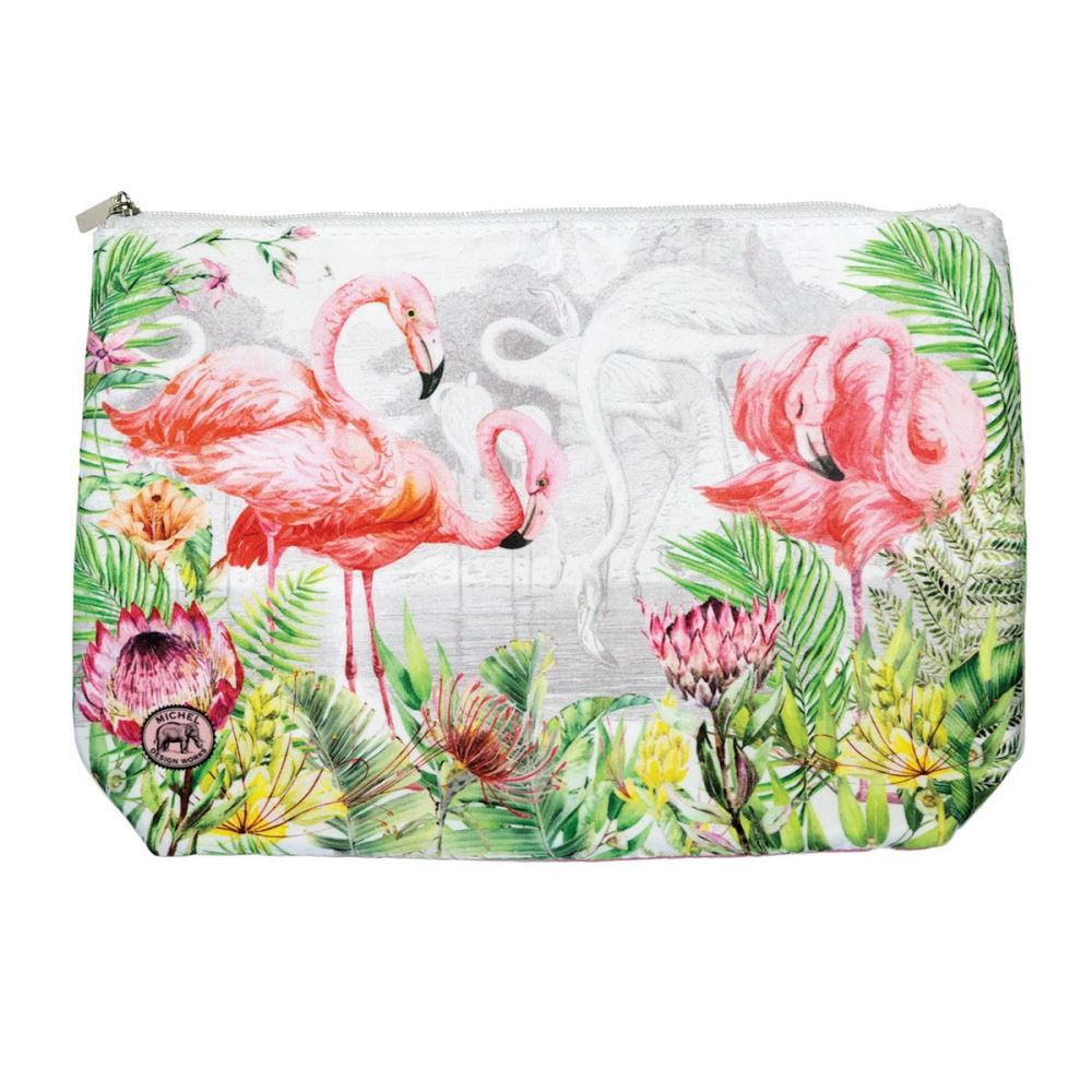 Michel Design Works - Large Cosmetic Bag - Flamingo