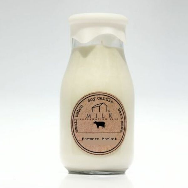 Milk Bottle Candle - Milk Reclamation Barn - Farmers Market