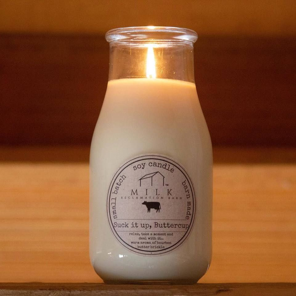 Milk Bottle Candles - Milk Reclamation Barn