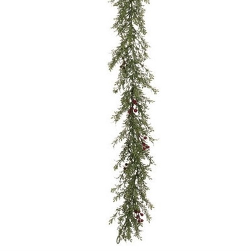 Mini Leaf & Berry Garland - Green - 6ft
