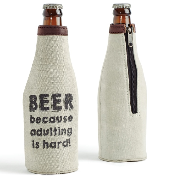 Mona B Beer Bottle Koozie - Adulting