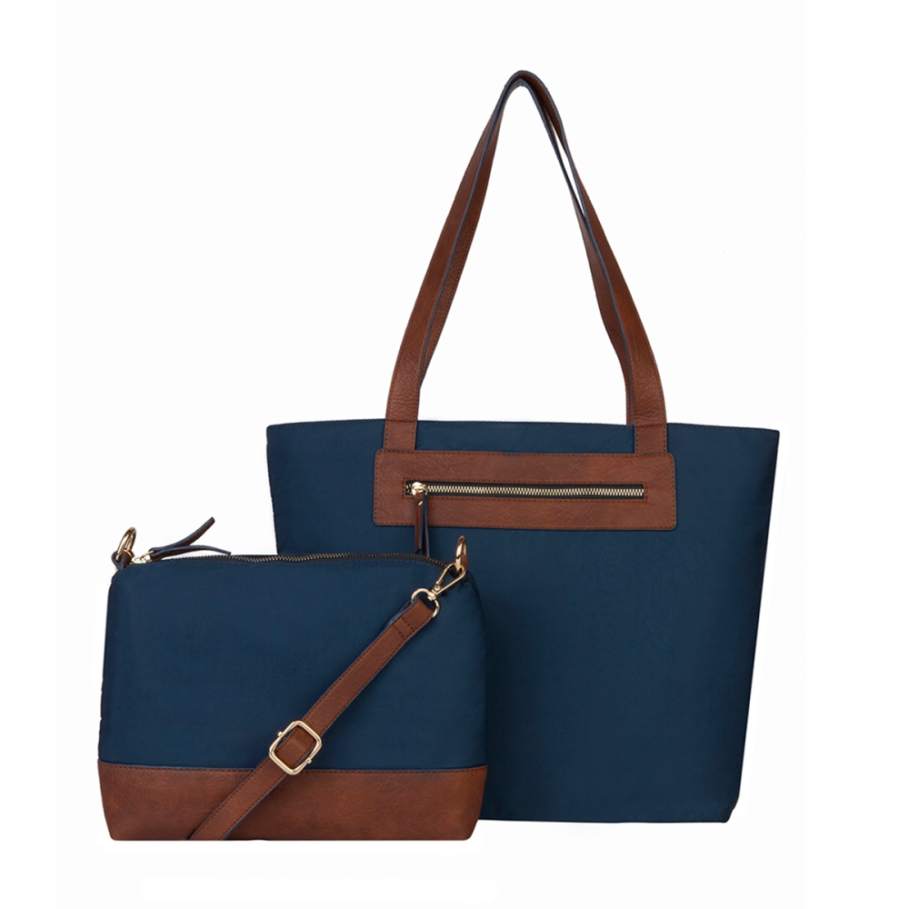 Mona B Tote with Bonus Bag - Katie - Navy - S/2