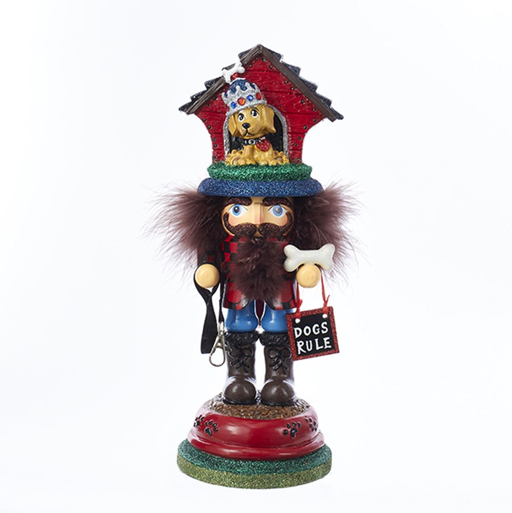 Nutcracker - Doghouse Hat Nutcracker - 13in