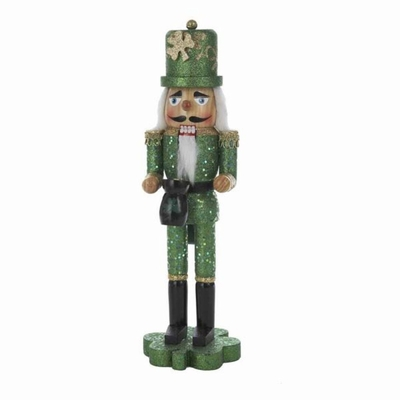 Nutcracker - Irish Nutcracker On Shamrock Base - 15in