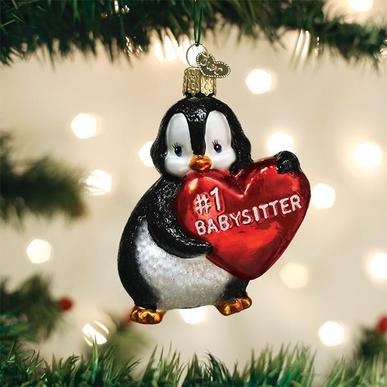 Old World Christmas Glass Ornament - Best Baby Sitter