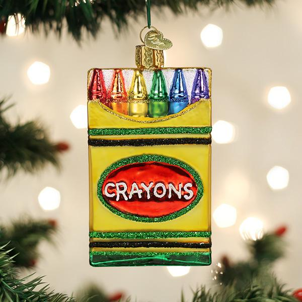 Old World Christmas Glass Ornament - Box Of Crayons