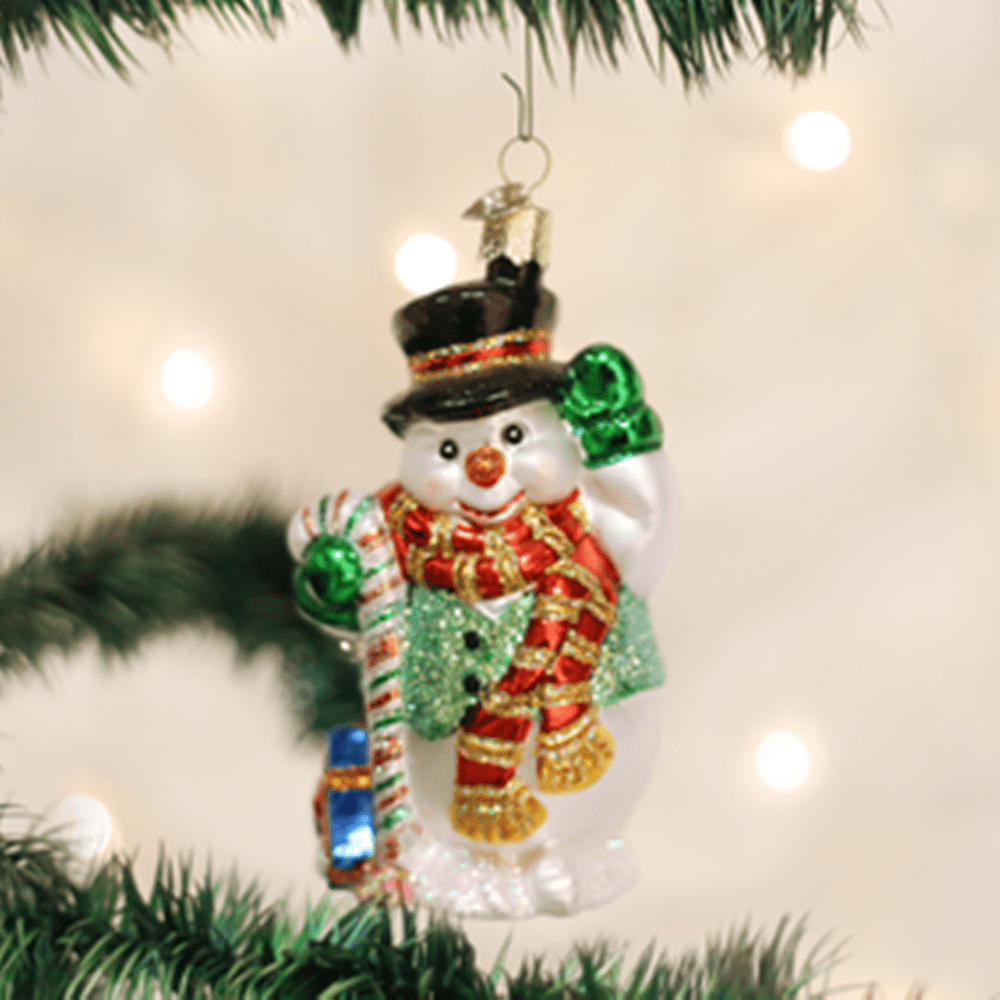 Old World Christmas Ornament - Candy Cane Snowman