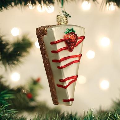 Old World Christmas Glass Ornament - Cheesecake