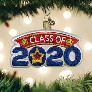 Old World Christmas Glass Ornament - Class of 2020