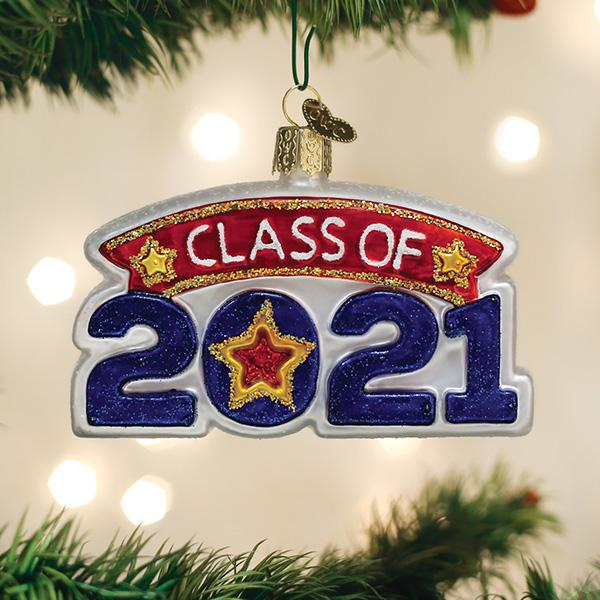 Old World Christmas Glass Ornament - Class Of 2021