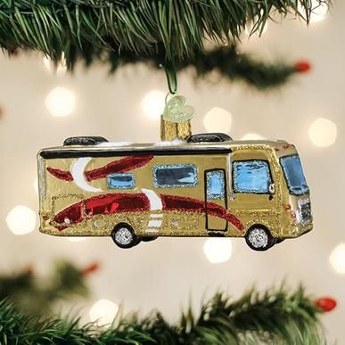 Old World Christmas Glass Ornament - Classic Motorhome