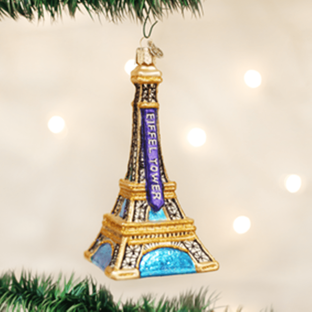 Old World Christmas Glass Ornament - Eiffel Tower