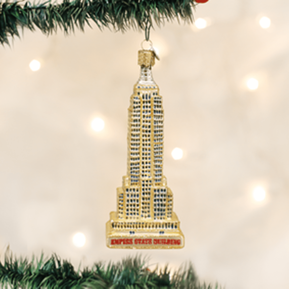 Old World Christmas Glass Ornament - Empire State Building