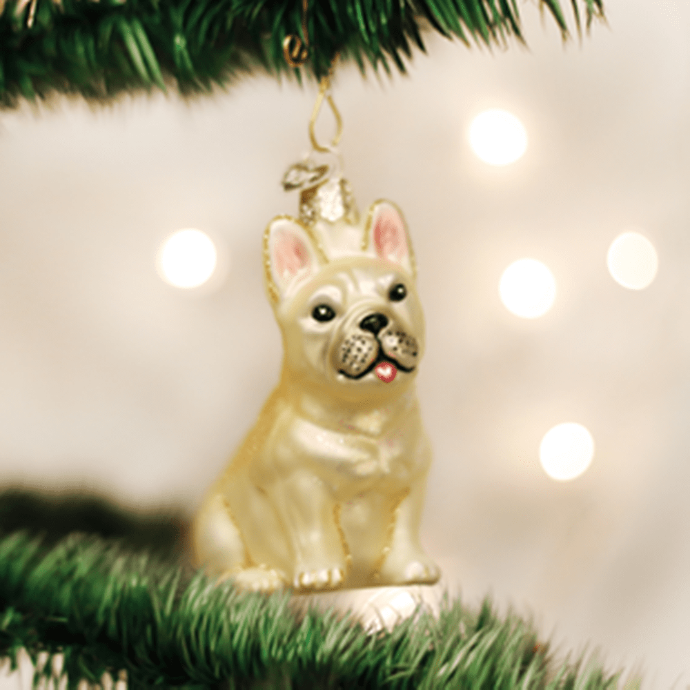 Old World Christmas Ornament - French Bulldog