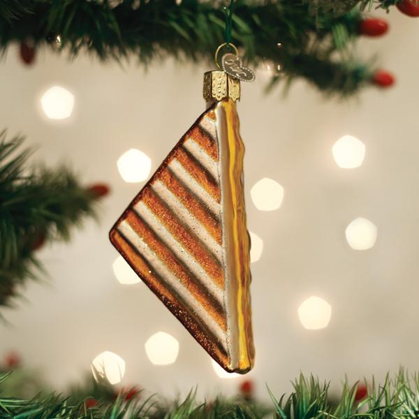 Old World Christmas Glass Ornament - Grilled Cheese Sandwich
