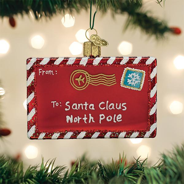 Old World Christmas Glass Ornament - Letter To Santa