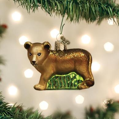 Old World Christmas Glass Ornament - Lion Cub