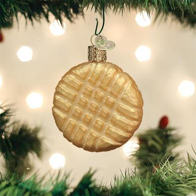 Old World Christmas Glass Ornament - Peanut Butter Cookie
