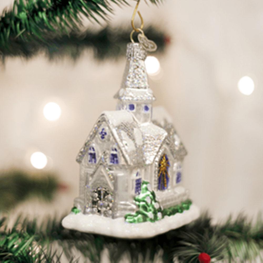 Old World Christmas Glass Ornament - Sparkling Cathedral