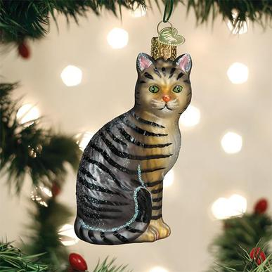 Old World Christmas Glass Ornament - Tabby Cat