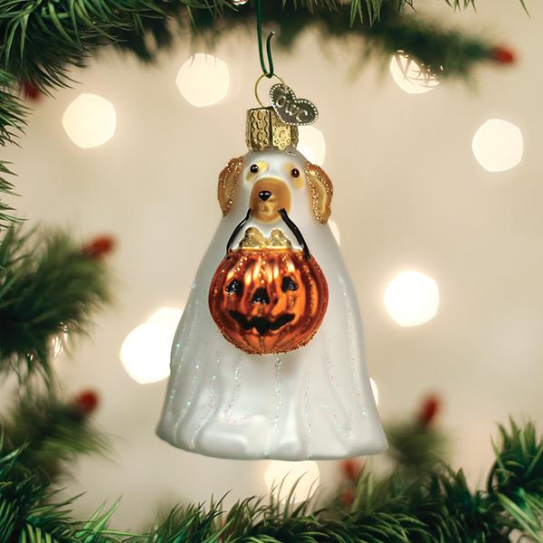 Old World Christmas Glass Ornament - Trick Or Treat Pooch