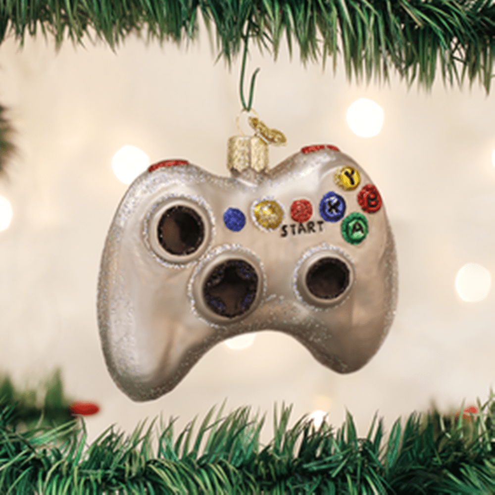 Old World Christmas Glass Ornament - Video Game Controller