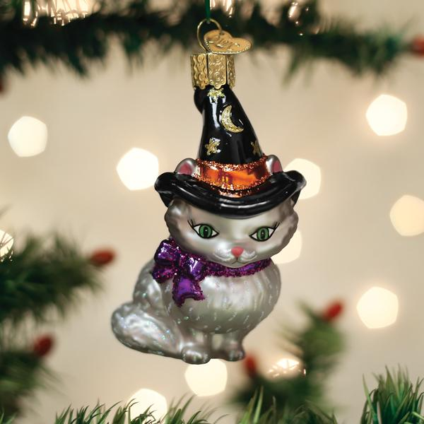 Old World Christmas Glass Ornament - Witch Kitten