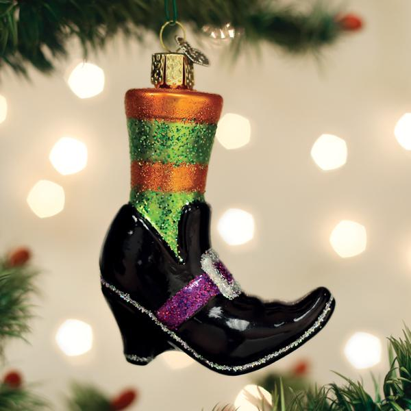 Old World Christmas Glass Ornament - Witches Shoe