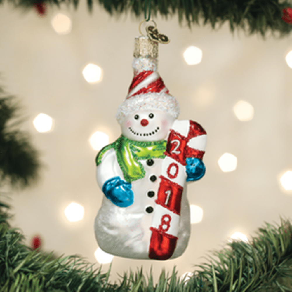 Old World Christmas Ornament - 2018 Snowman