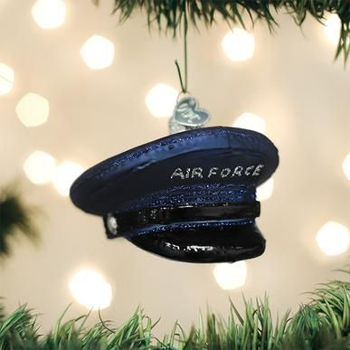 Old World Christmas Glass Ornament - Air Force Cap