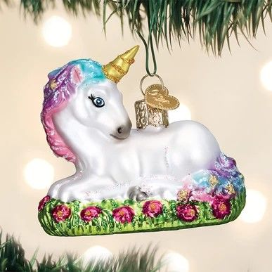 Old World Christmas Ornament - Baby Unicorn