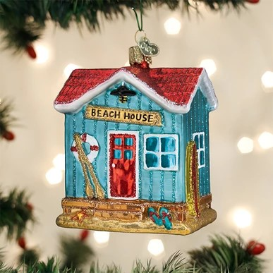 Old World Christmas Ornament - Beach House
