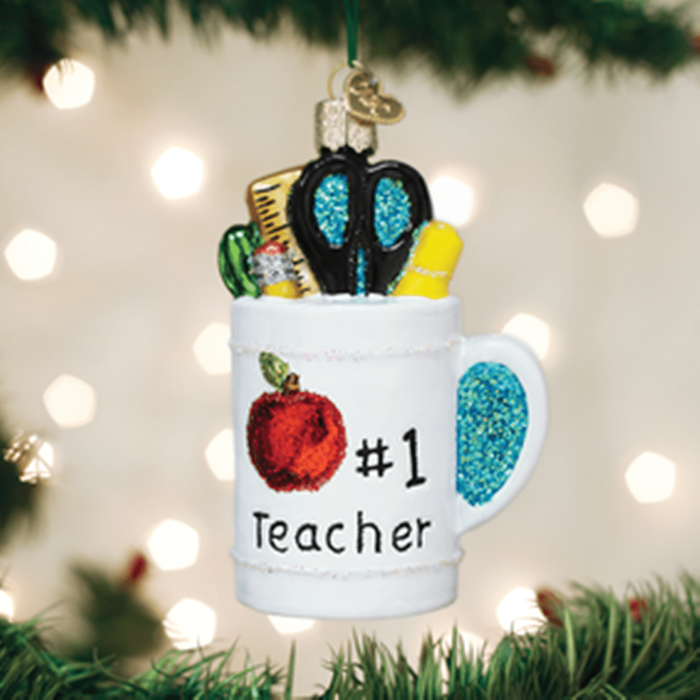 Old World Christmas Ornament - Best Teacher Mug