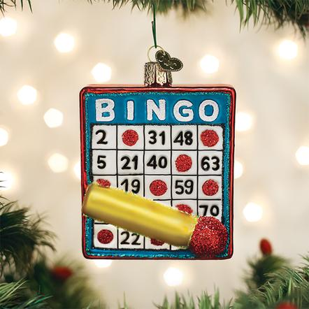 Old World Christmas Ornament - Bingo