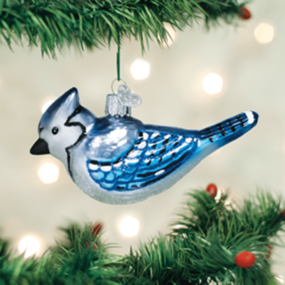 Old World Christmas Ornament - Bright Blue Jay