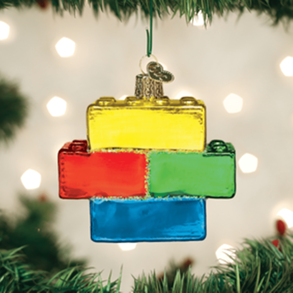Old World Christmas Glass Ornament - Building Blocks