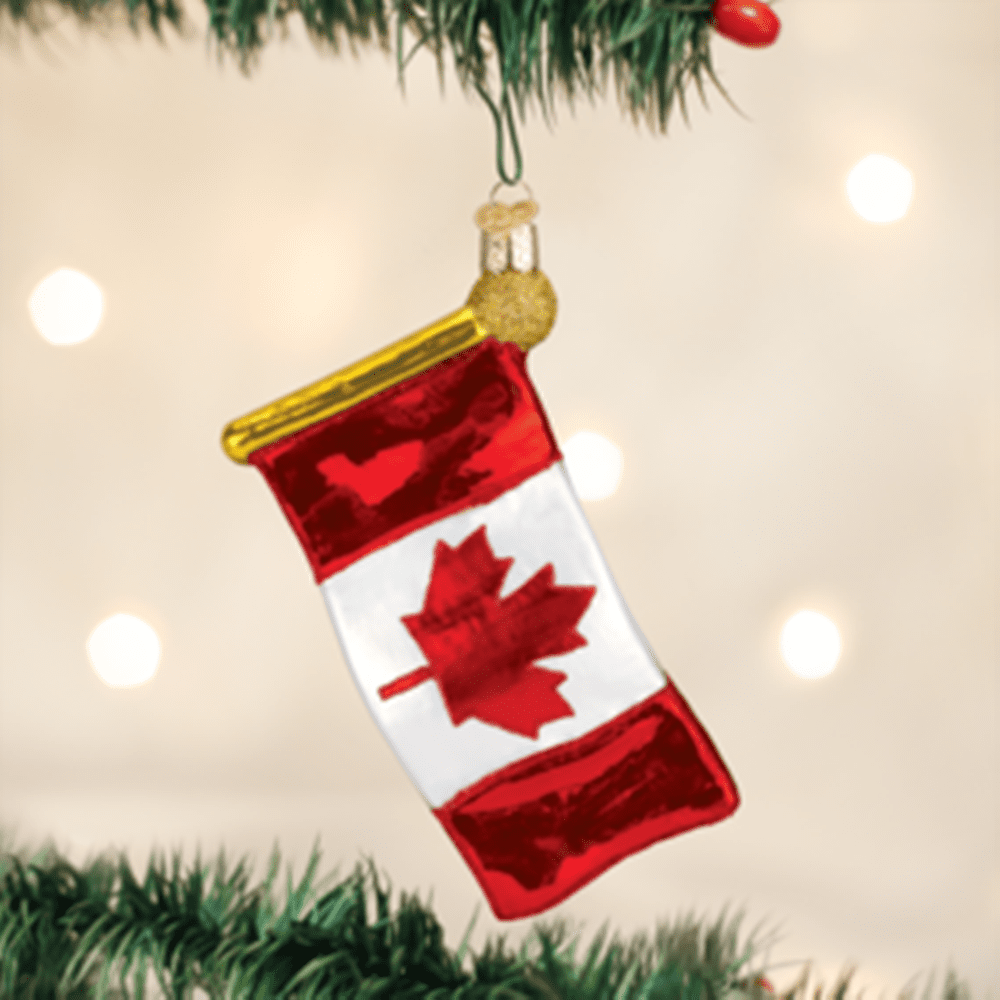 Old World Christmas Glass Ornament - Canadian Flag