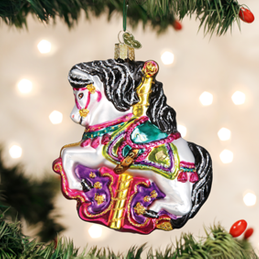 Old World Christmas Ornament - Carousel Horse