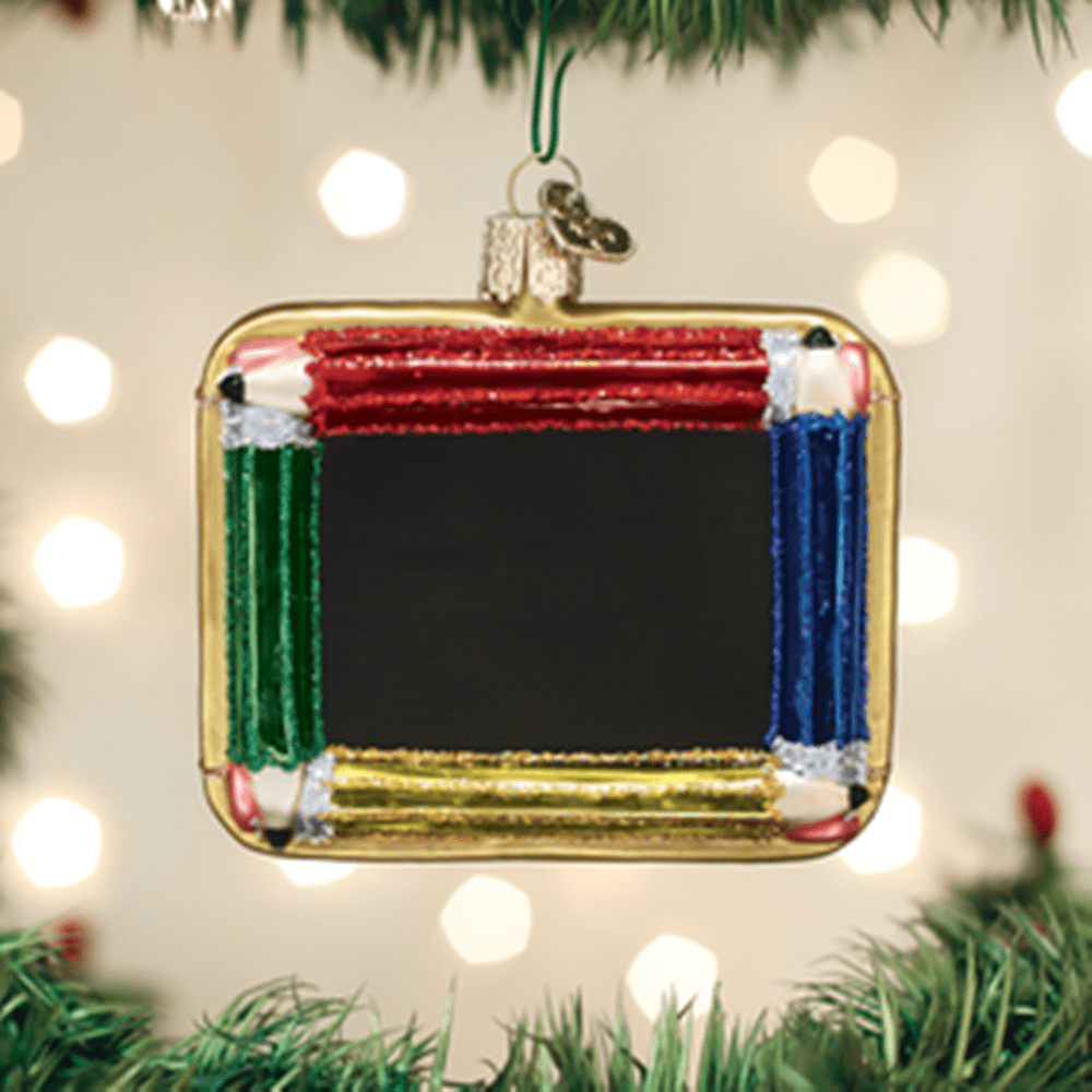 Old World Christmas Glass Ornament - Chalkboard